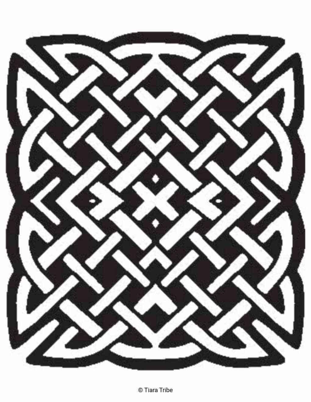 Celtic Rope Square Coloring Page