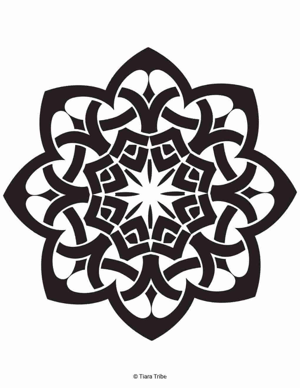 Celtic flower 1 Coloring Page