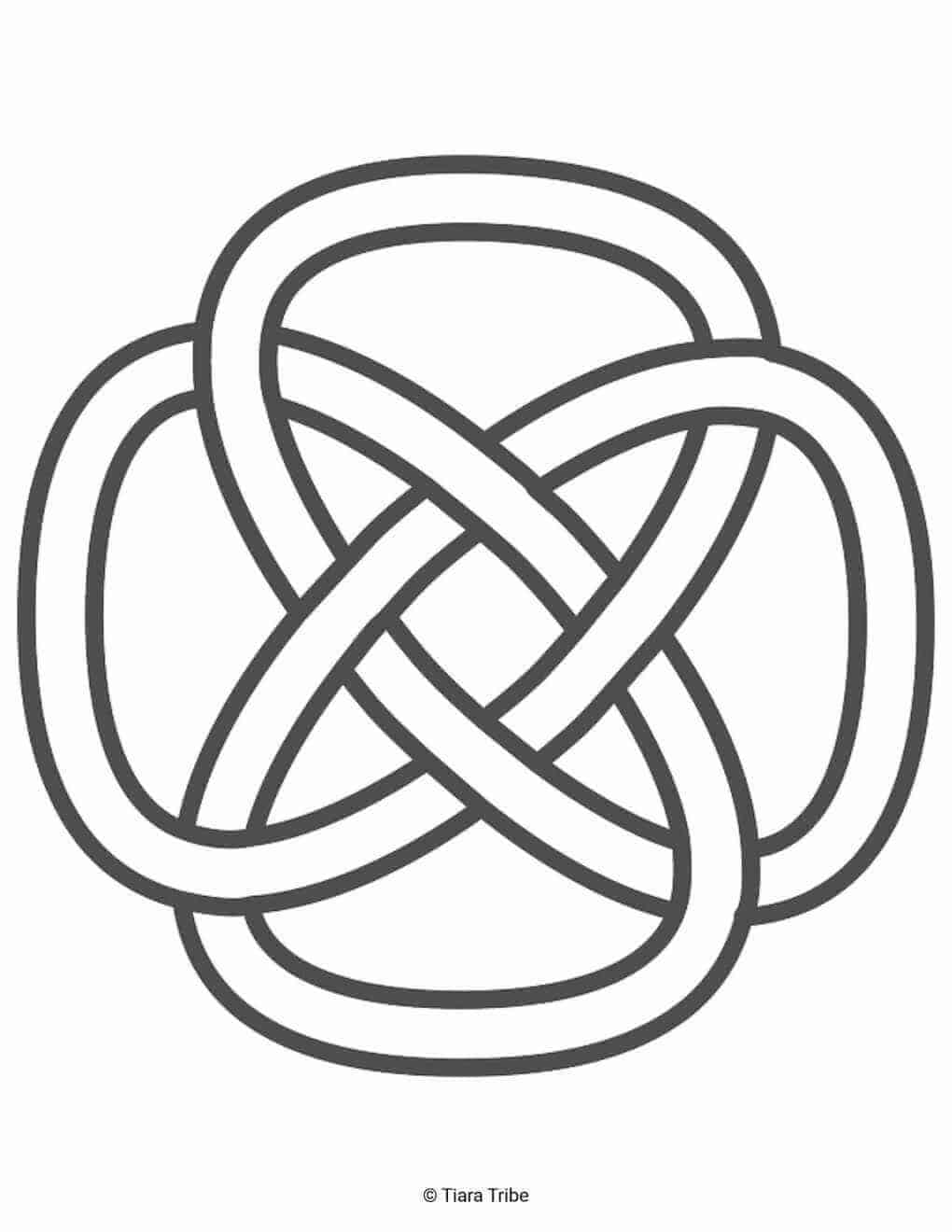 Simple Celtic Rope Design Coloring Page
