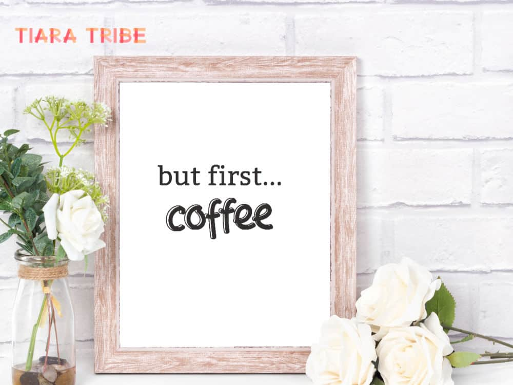 But first...coffee sign