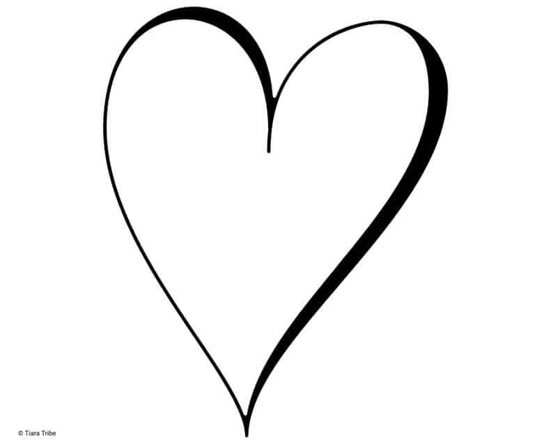 Creative heart with thin and thick outline