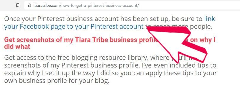 WordPress links live on blog post