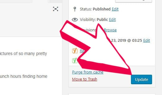 Update and save your WordPress links