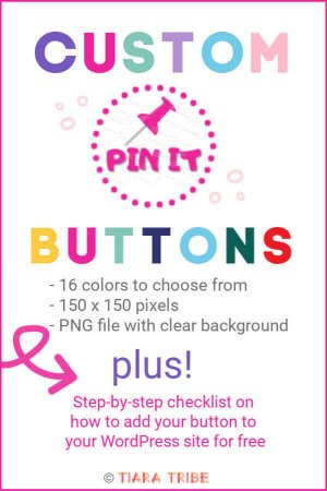 Custom Pin It Button and how to add a Pin It button to your blog