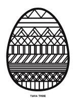 Easter Egg Coloring 1