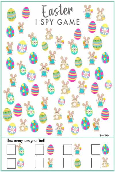 Easter I Spy Game A Fun Easter Activity For Kids