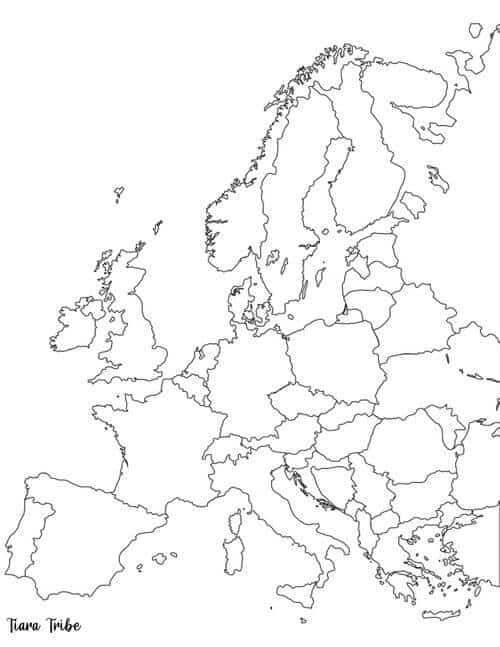 Europe coloring page