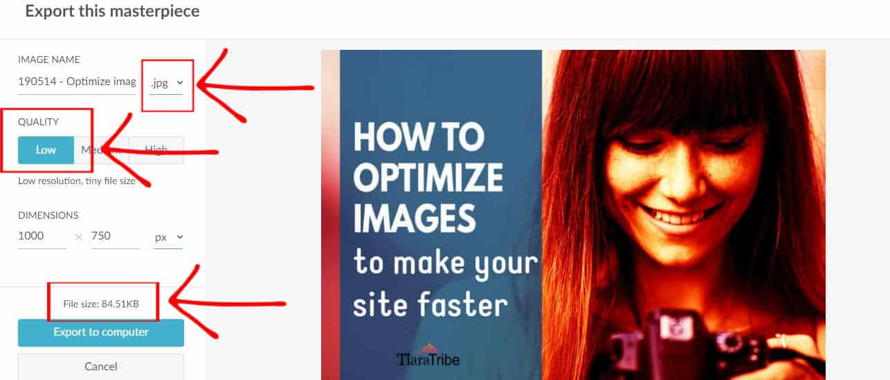 How to optimize images to make your site faster