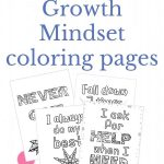 Free growth mindset coloring page