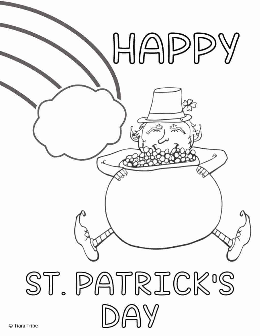 Happy St Patrick's Day  Coloring Page