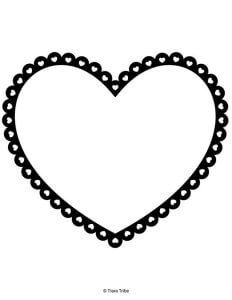 Heart outlined with small hearts