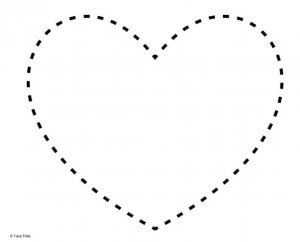 Heart with dotted outline to join the dots
