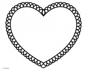 Heart with looped outline