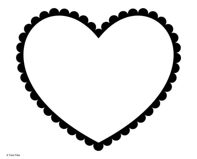 Heart with solid dotted outline