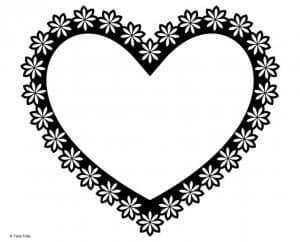 Hippy heart with a flower border