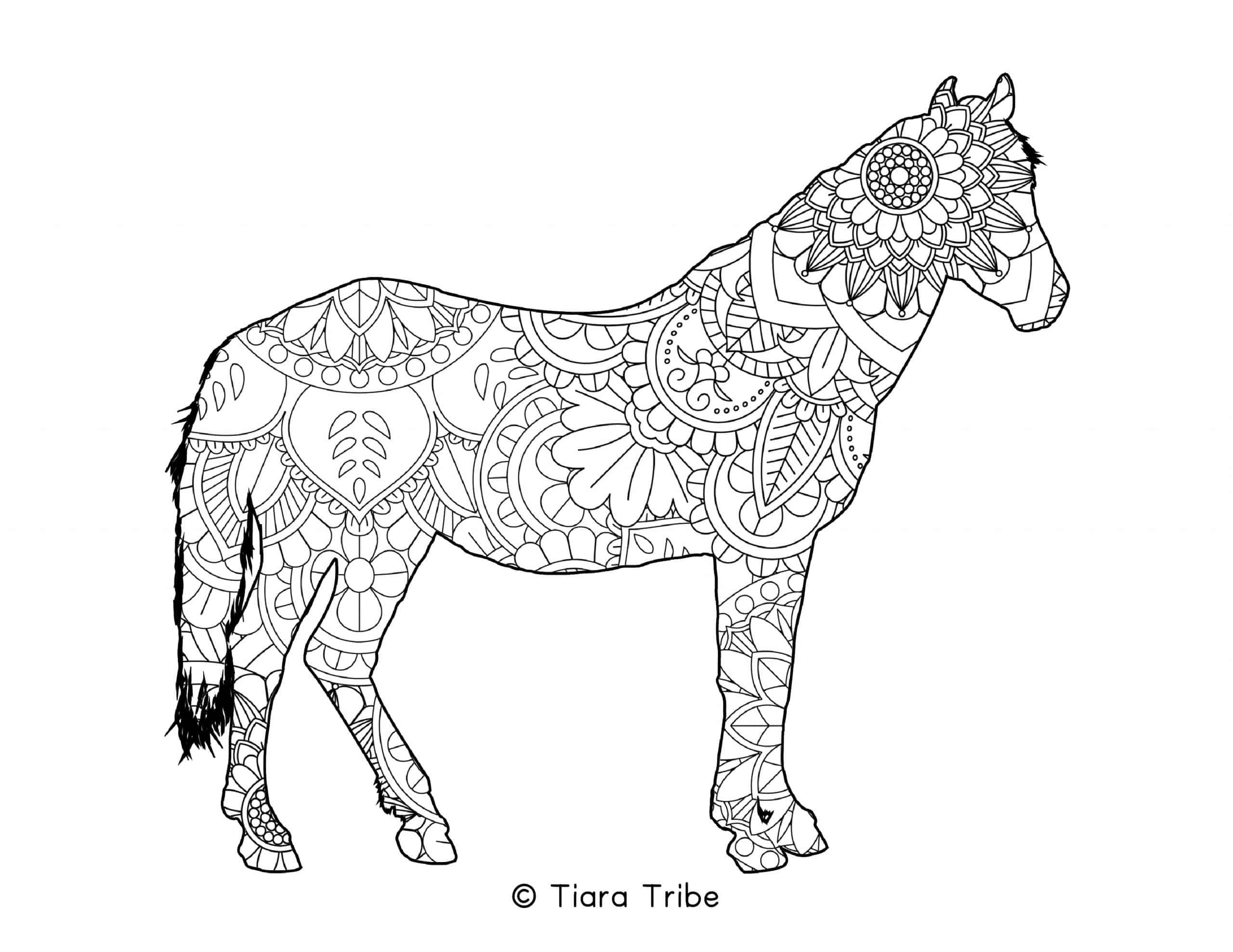 Horse Mandala Coloring Page