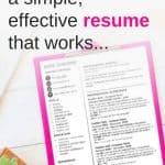 How to make a simple effective resume that works