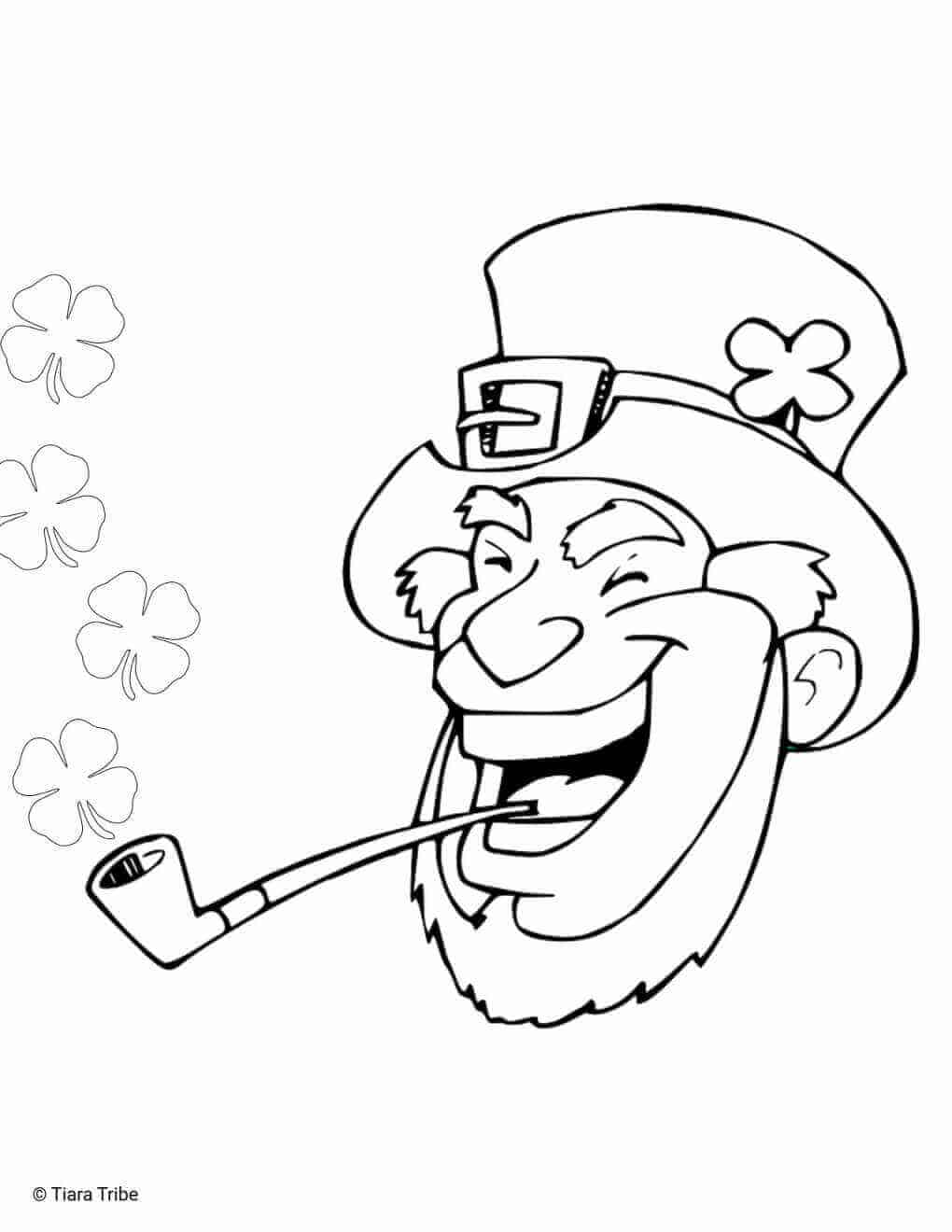 Laughing Leprechaun Coloring Page