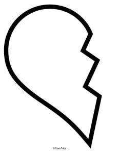 Left half of broken heart