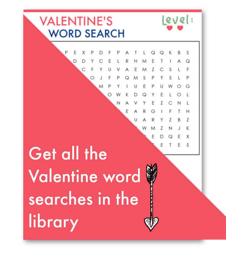 Level 2: Valentine's Day Word Search
