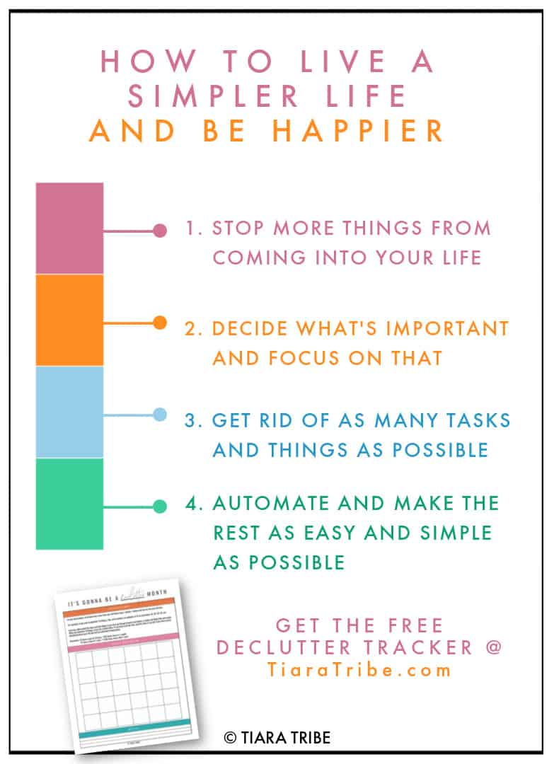 Live a simple life - infographic