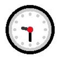 Nine-thirty clock emoji meaning