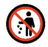 No littering emoji meaning