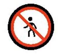 No pedestrians emoji meaning