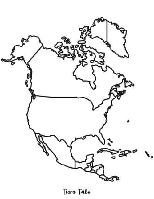 North America Coloring Page