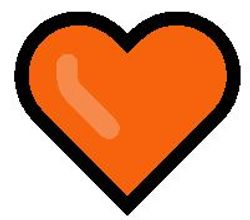 Orange heart emoji meaning picture