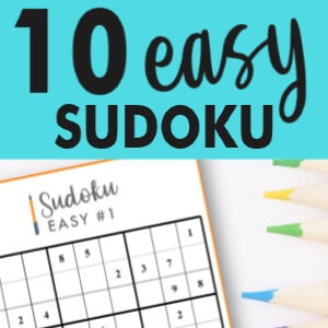 Get 10 Easy Sudoku puzzles online