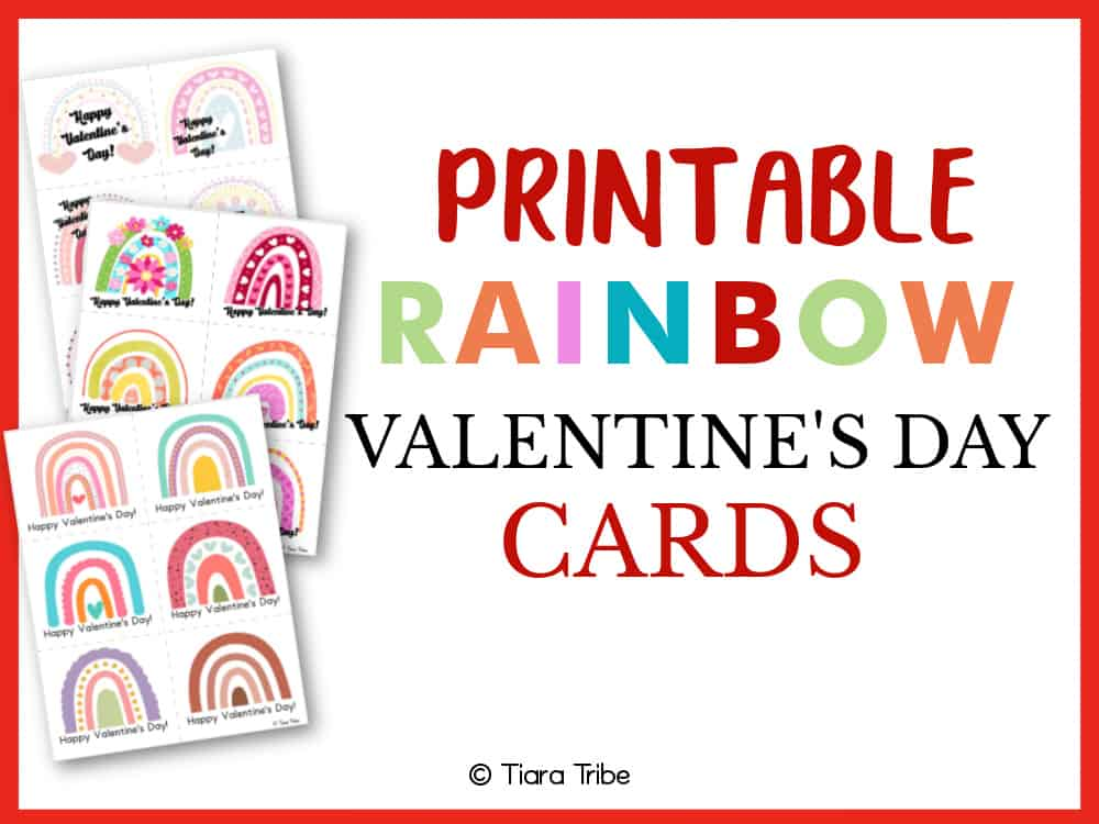 Rainbow Valentine's Day Cards