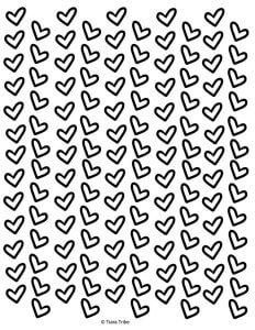 Rows of pretty hearts
