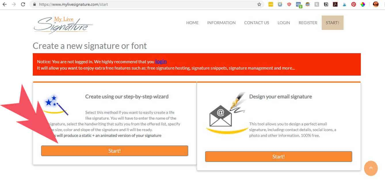 How to create a blog signature