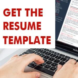 Resume Template Word Buy Link