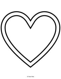 Simple heart in a heart
