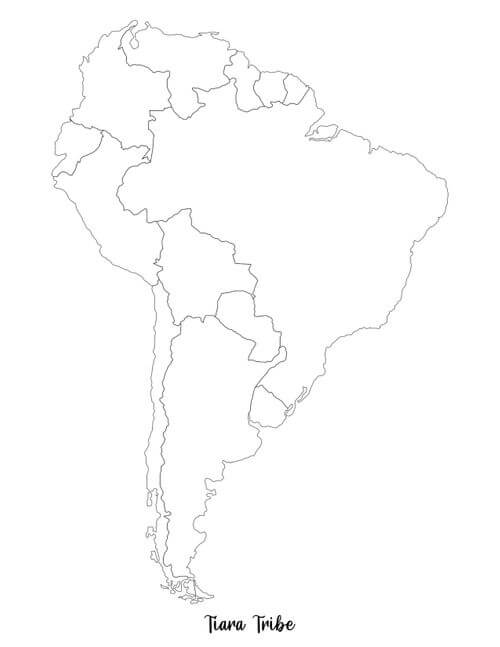 South America Coloring Page