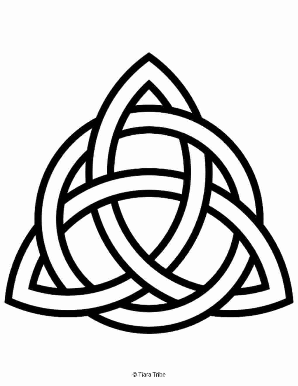 Triangular Celtic Rope Design Coloring Page