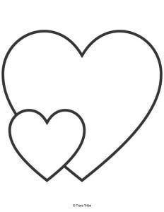 Two hearts - one big heart, one small heart