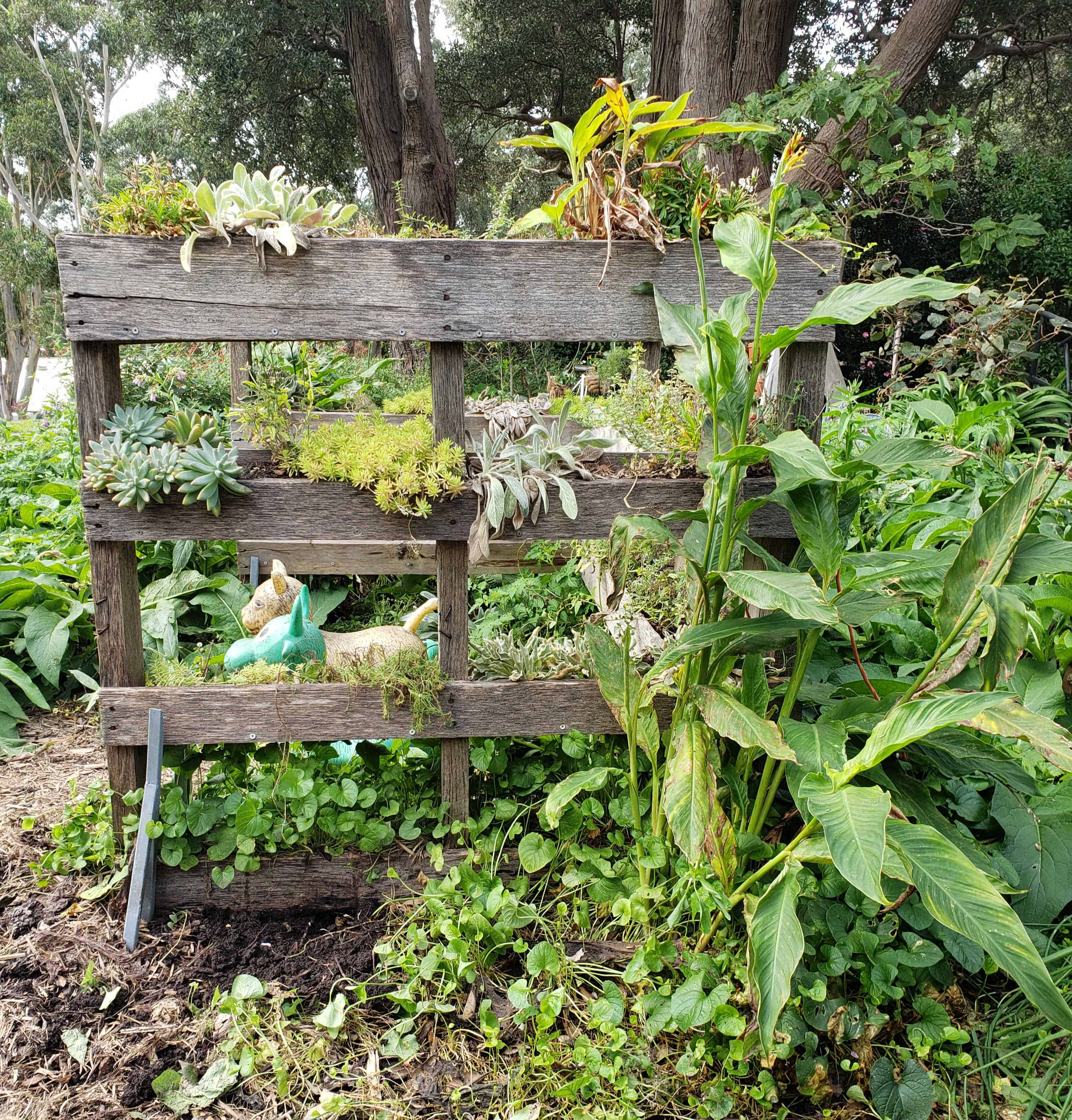 Upcycle wood pallet ideas for the garden