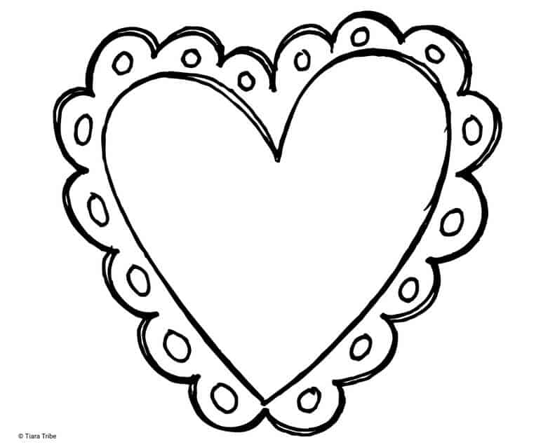 Vintage heart with lace outline