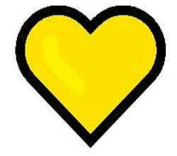 Yellow heart emoji meaning picture