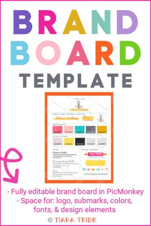 Fully editable brand board template in PicMonkey