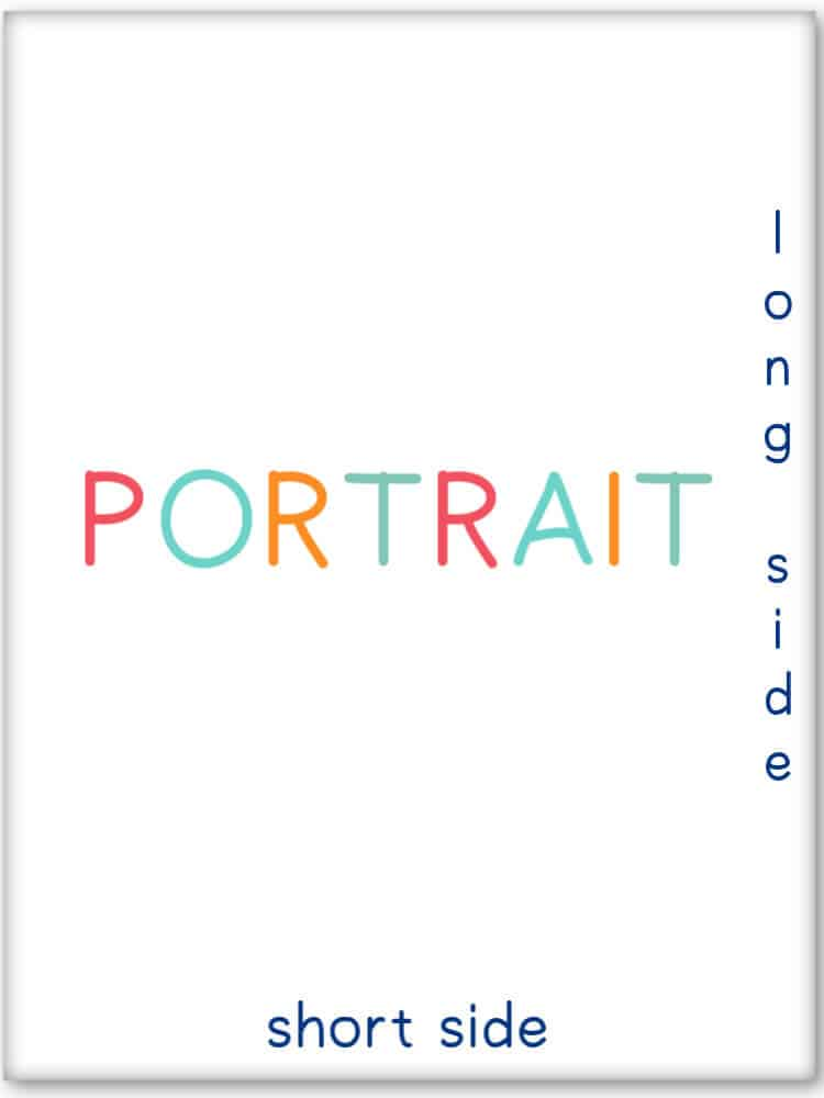 This is what a portrait print format looks like